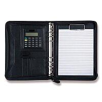 Koženkové portfolio se zipem a kalkulačkou WeDo