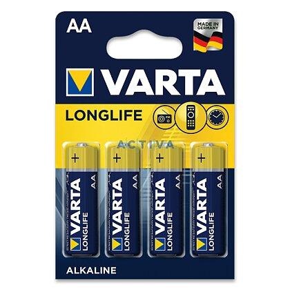 Obrázek produktu Varta Longlife - alkalické baterie - AA, 4 ks