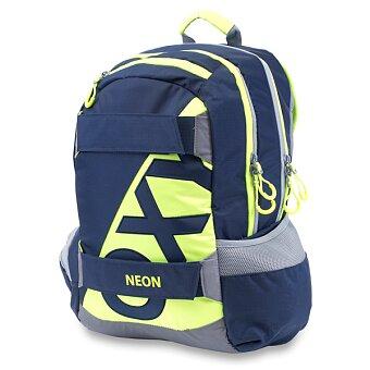 Obrázek produktu Studentský batoh OXY Sport Neon Line - Dark Blue
