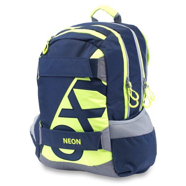e6088a8f9b Studentský batoh OXY Sport Neon Line - Dark Blue