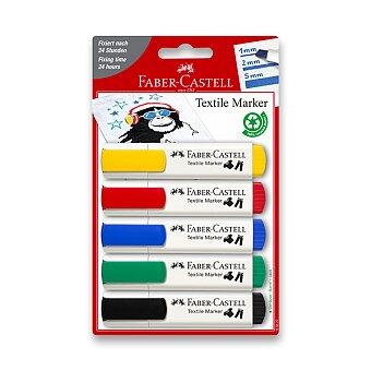 Obrázek produktu Popisovače na textil Faber-Castell - 5 základních barev