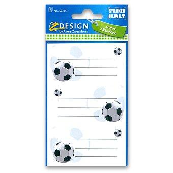 Obrázek produktu Samolepicí štítky na sešity - Fotbal