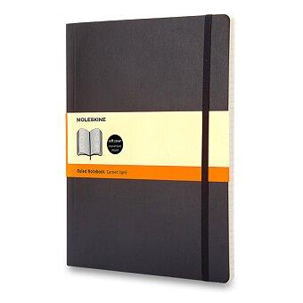 Obrázek produktu Zápisník Moleskine - měkké desky - XL, linkovaný, černý