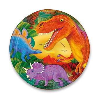 Obrázek produktu Papírové talířky Dinosauři - průměr 23 cm, 8 ks