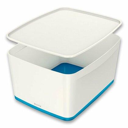 Obrázok produktu Leitz MyBox - úložný box s vekom - veľ. L, biela/modrá