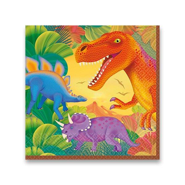 Papírové ubrousky Dinosauři 33 x 33 cm, 16ks