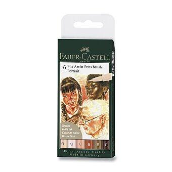 Obrázek produktu Popisovač Faber-Castell Pitt Artist Pen Brush - Portrait, 6 ks