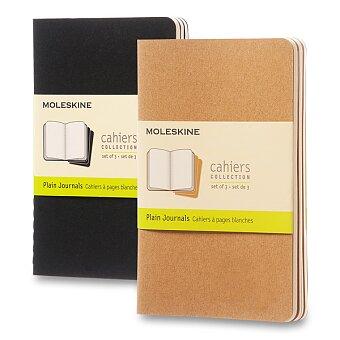Obrázek produktu Notes Moleskine Cahier - S, čistý, 3 ks, výběr barev