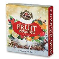 Vánoční kolekce ovocných čajů Basilur Fruits Infusi