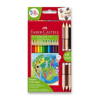 Obrázek produktu Pastelky Faber-Castell Children of the World - 12 barev + 6 barev