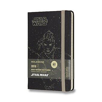 Obrázek produktu Diář Moleskine 2018 Star Wars Rey, tvrdé desky - S, týdenní
