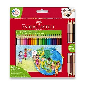 Obrázek produktu Pastelky Faber-Castell Children of the World - 24 barev + 3 ks