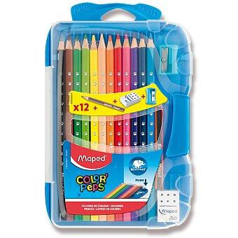 Obrázek produktu Pastelky Maped Color'Peps Smart Box - 12 barev + doplňky, mix barev boxu