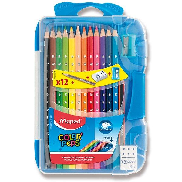 Pastelky Maped Color'Peps Smart Box 12 barev + doplňky, mix barev boxu