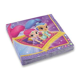 Obrázek produktu Papírové ubrousky Shimmer & Shine - 33 x 33 cm, 20 ks