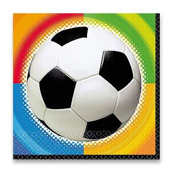 Obrázek produktu Papírové ubrousky Fotbal - 33 x 33 cm, 16ks