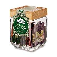 Skleněná dóza plná čajů Ahmad Tea One More Tea