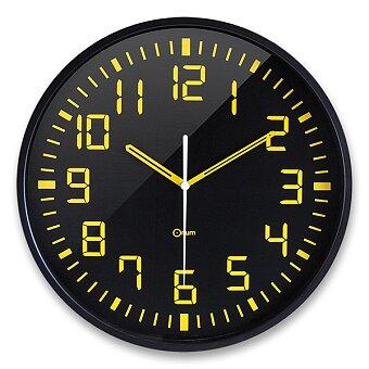 Obrázek produktu Nástěnné hodiny CEP Orium 11023 - průměr 30 cm, černožluté