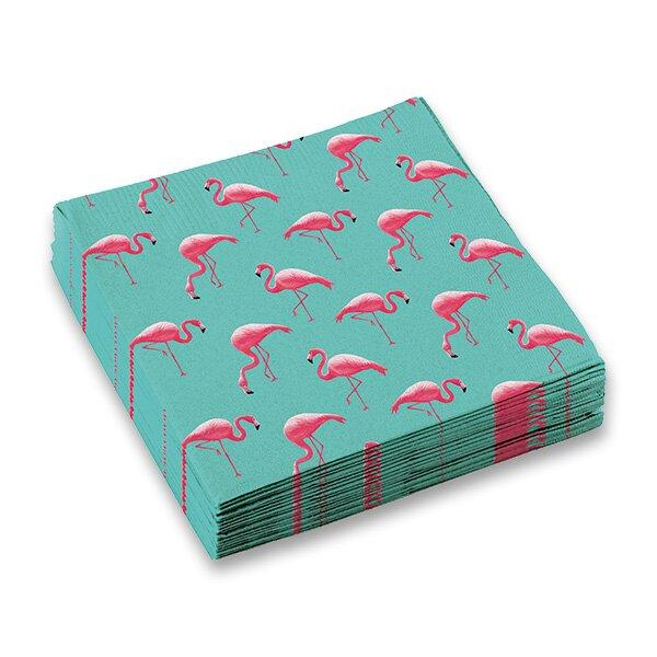Papírové ubrousky Plameňák 33 x 33 cm, 20 ks