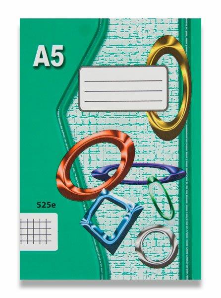 Školní sešit EKO 525 A5, čtverečkovaný, 20 listů