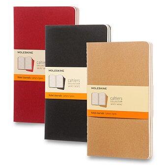 Obrázek produktu Notes Moleskine Cahier - L, linkovaný, 3 ks, výběr barev