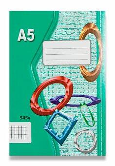Obrázek produktu Školní sešit EKO 545 - A5, čtverečkovaný, 40 listů