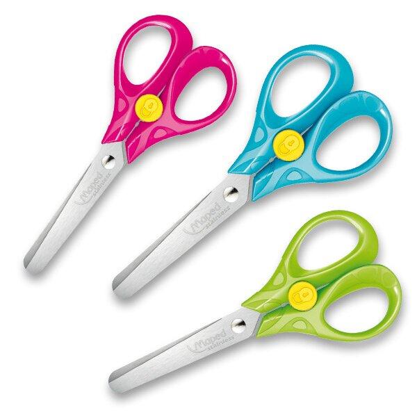 Nůžky Maped Security 13 cm, blistr, mix barev