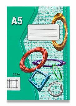 Obrázek produktu Školní sešit EKO 565 - A5, čtverečkovaný, 60 listů