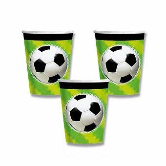 Obrázek produktu Papírové kelímky Fotbal - objem 0,25 l, 8 ks