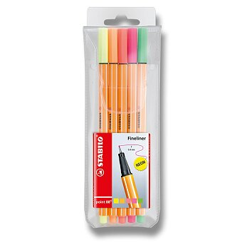 Obrázek produktu Liner Stabilo Point 88 - sada 5 ks, neon barvy