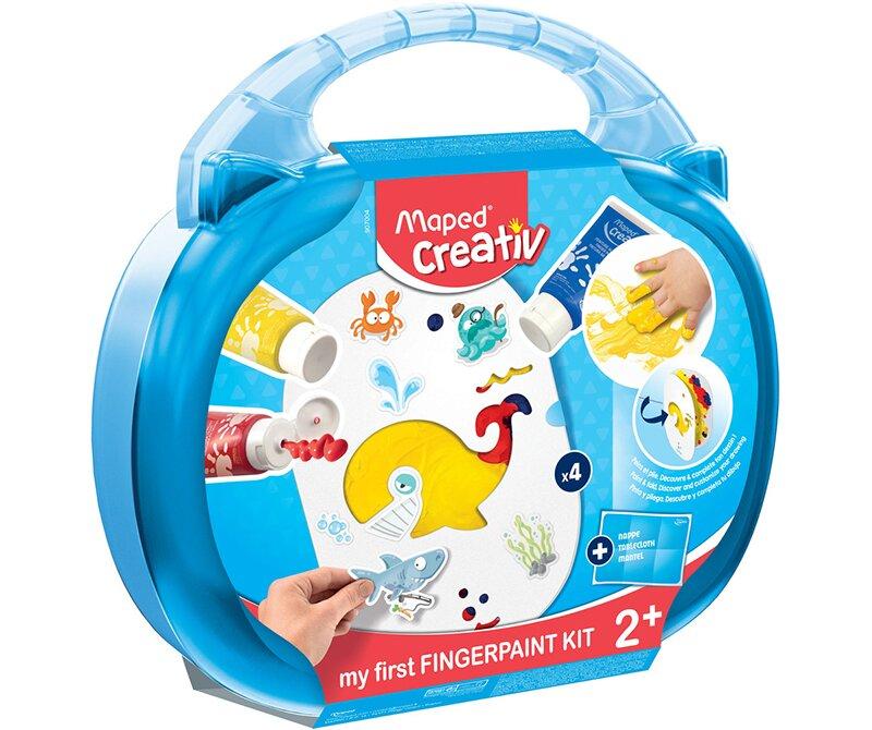 Kreativní sada obsahuje prstové barvy a je vhodná už pro děti od 2 let