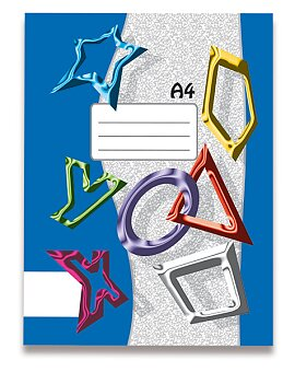 Obrázek produktu Sešit recyklovaný 440 Papírny Brno - A4, 40 listů, čistý