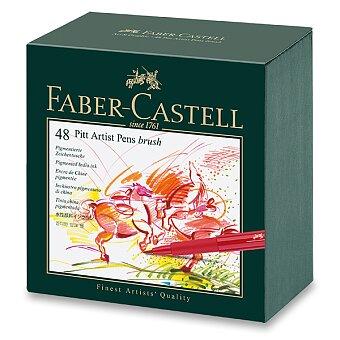 Obrázek produktu Popisovač Faber-Castell Pitt Artist Pen Brush - sada 48 ks, studio box