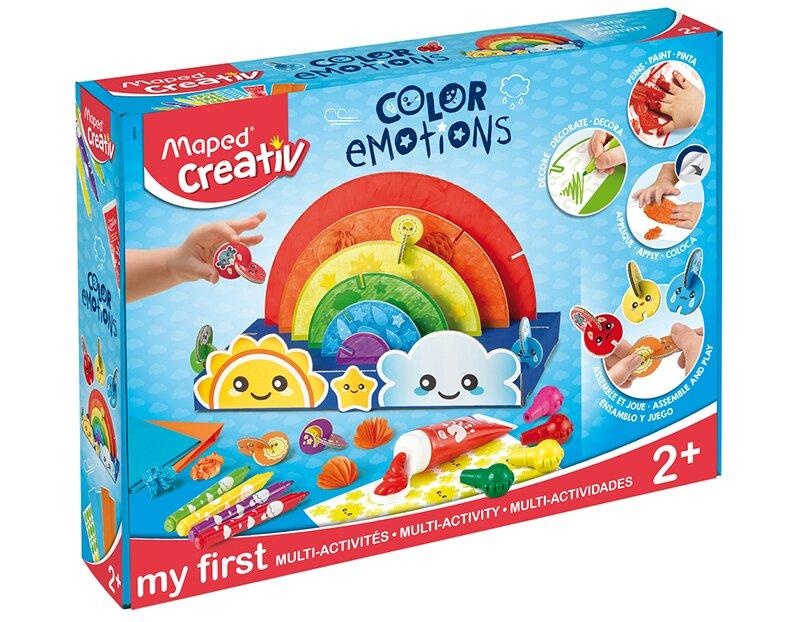 Kreativní sada pro různé výtvarní terchniky je vhodná už pro děti od 2 let