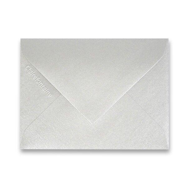 Barevná obálka Clairefontaine stříbrná, 75 x 100 mm