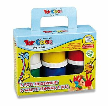 Obrázek produktu Prstové barvy Toy Color - 6 barev, 80 ml