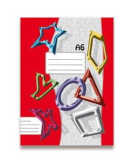 Obrázek produktu Sešit recyklovaný 644 Papírny Brno - A6, 40 listů, linkovaný