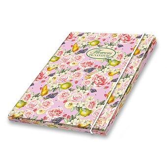 Obrázek produktu 3chlopňové kartonové desky Pigna Nature Flowers - A4, mix motivů