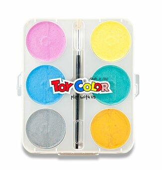 Obrázek produktu Vodové barvy Toy Color Maxi Pearly - 6 barev, průměr 57 mm