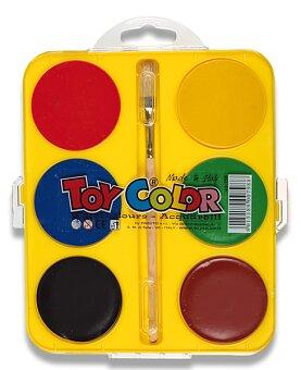 Obrázek produktu Vodové barvy Toy Color Maxi - 6 barev, průměr 57 mm
