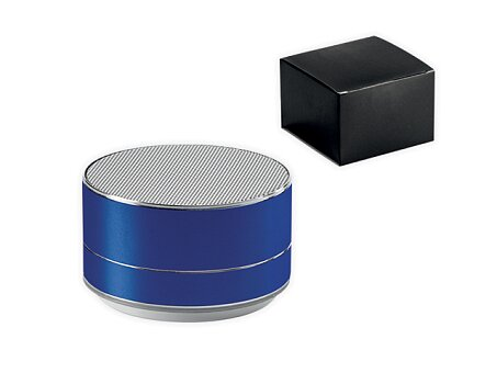Obrázek produktu Kovový bluetooth reproduktor s podsvícením, výběr barev - modrá