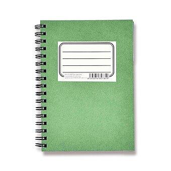 Obrázek produktu Kroužkový bvlok BOBO Zelenáč - A6, linkotečkovaný, 50 listů