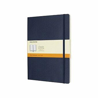 Obrázek produktu Zápisník Moleskine - měkké desky - XL, linkovaný, modrý