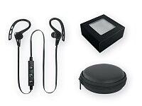Plastová bluetooth sluchátka - černá