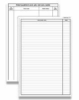 Stavební deník číslovaný Optys 1268