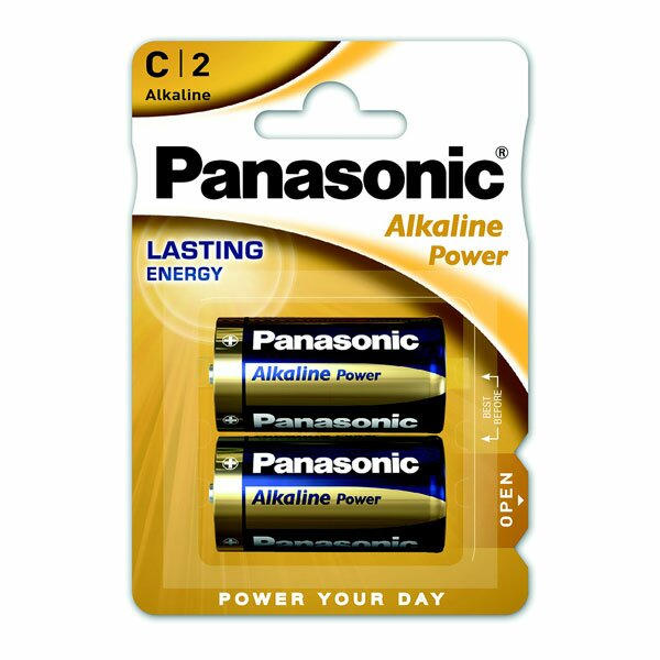 Baterie Panasonic Alkaline Power C, 2 ks