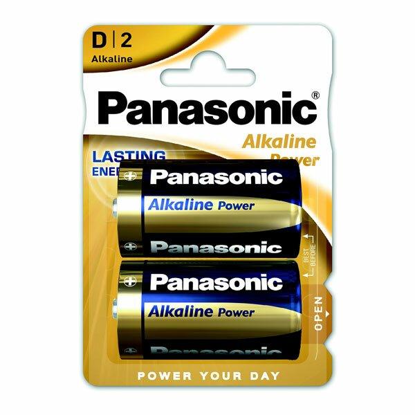 Baterie Panasonic Alkaline Power D, 2 ks