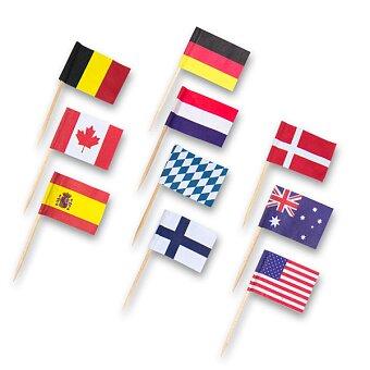 Obrázek produktu Dřevěná napichovátka vlaječky Amscan - 30 ks