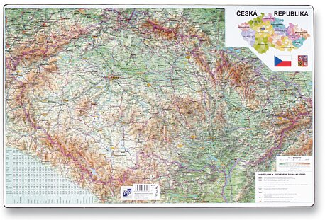 Obrázek produktu Podložka na stůl - Mapa České republiky - 60 x 40 cm