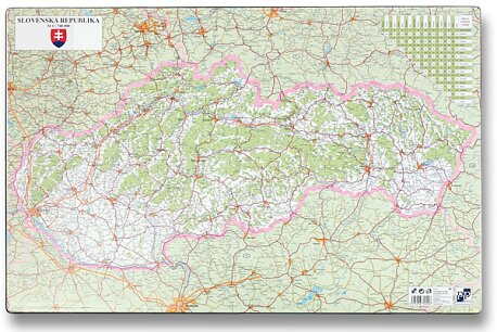Obrázek produktu Podložka na stůl - Mapa Slovenské republiky - 60 x 40 cm